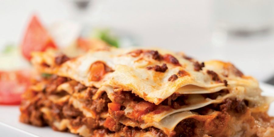 Lasagne con ragù di agnello rosso